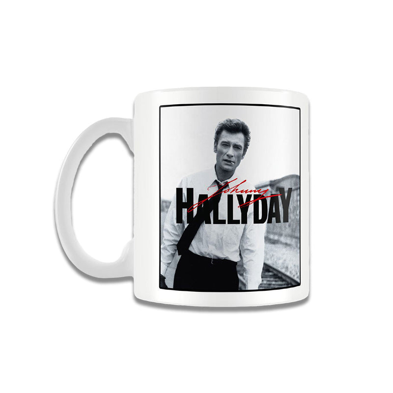 Mug Black and White - Johnny Hallyday