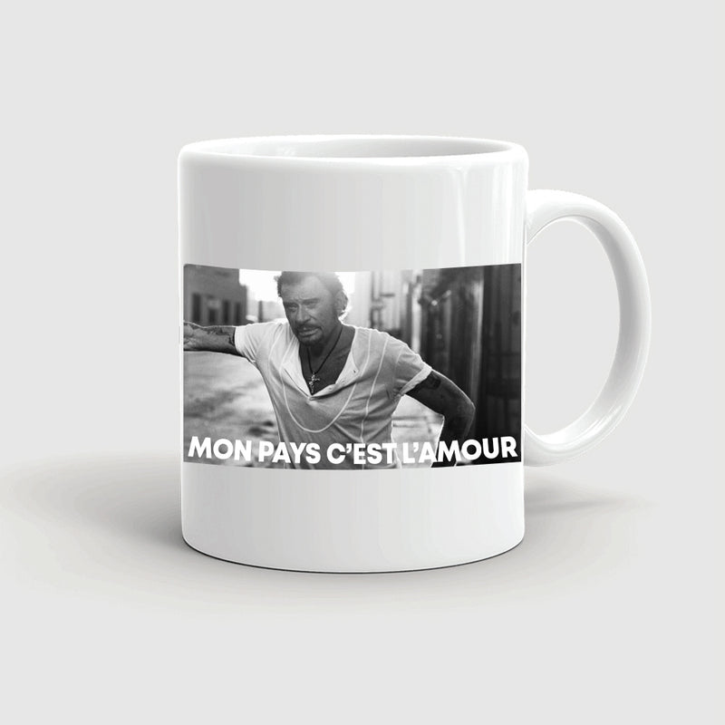 Mug blanc Nouvel album - Johnny Hallyday