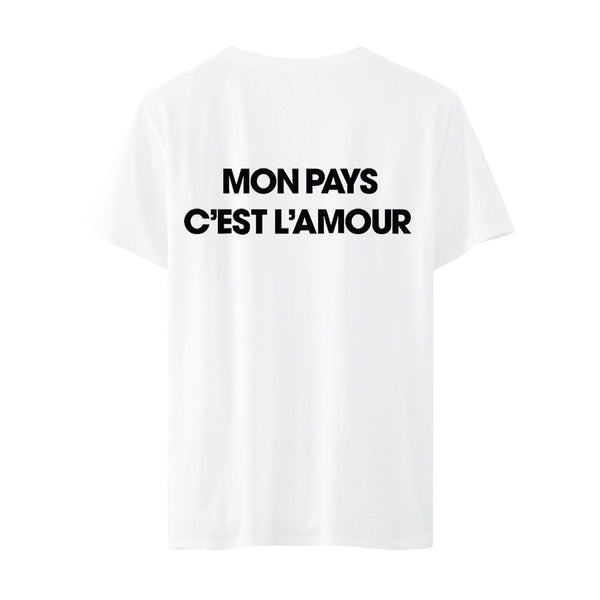 T-shirt blanc Nouvel album - Johnny Hallyday