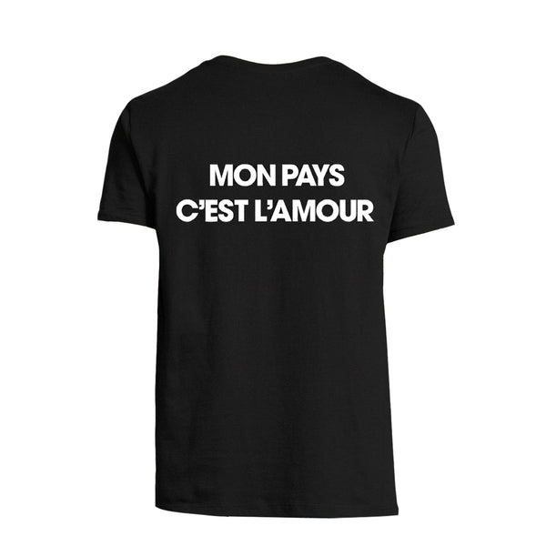 T-shirt noir nouvel album - Johnny Hallyday