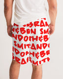 red Men's Jogger Shorts