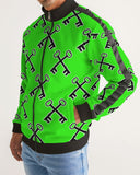 SLIME KEYS Men's Stripe-Sleeve Track Jacket