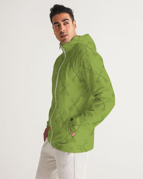 green  Men's Windbreaker