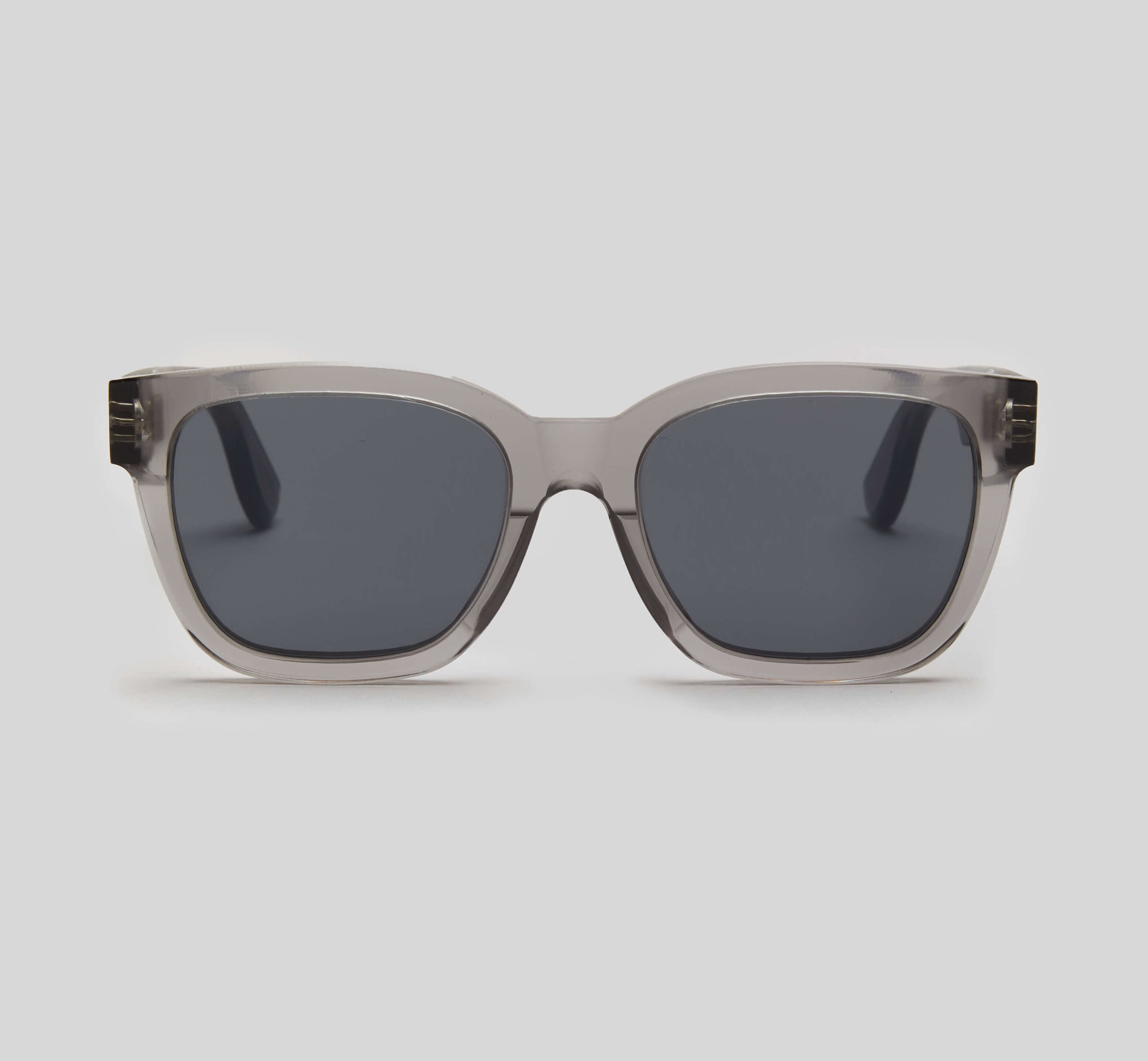 Smoke gray square sunglasses eco friendly sustainable fashion made in Japan unisex sunglasses for men sunglasses for women and blue light filter
