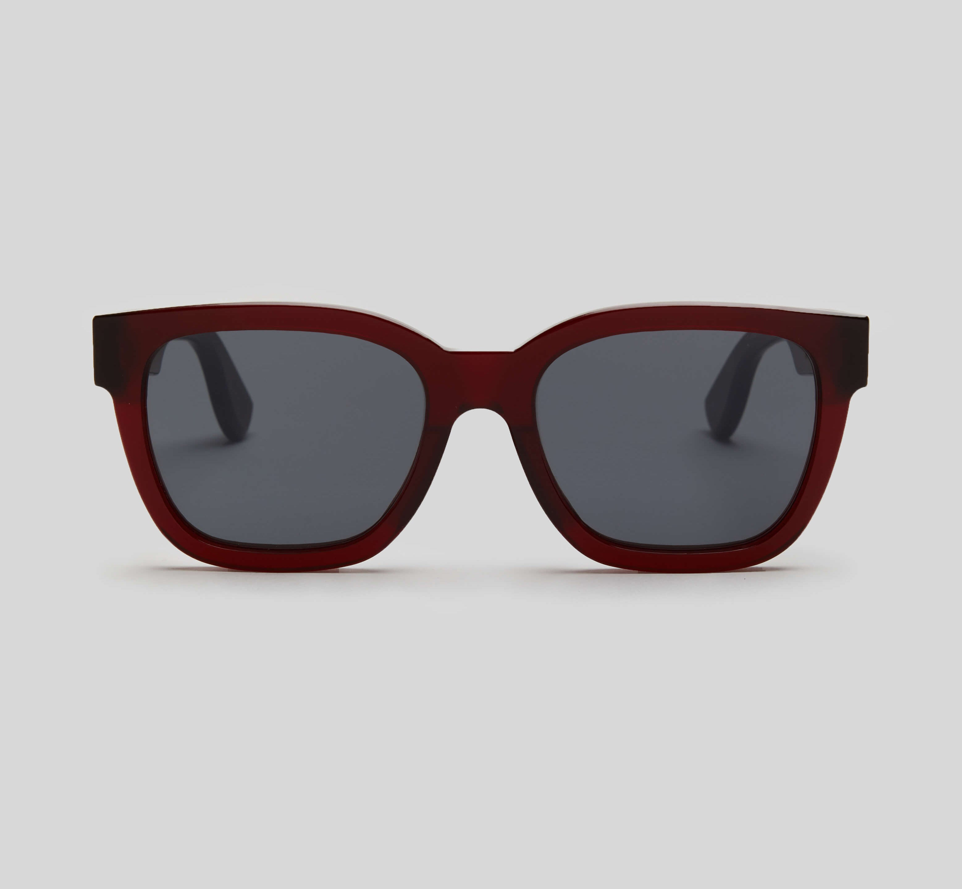 Red square sunglasses eco friendly sustainable fashion made in Japan unisex sunglasses for men sunglasses for women and blue light filter
