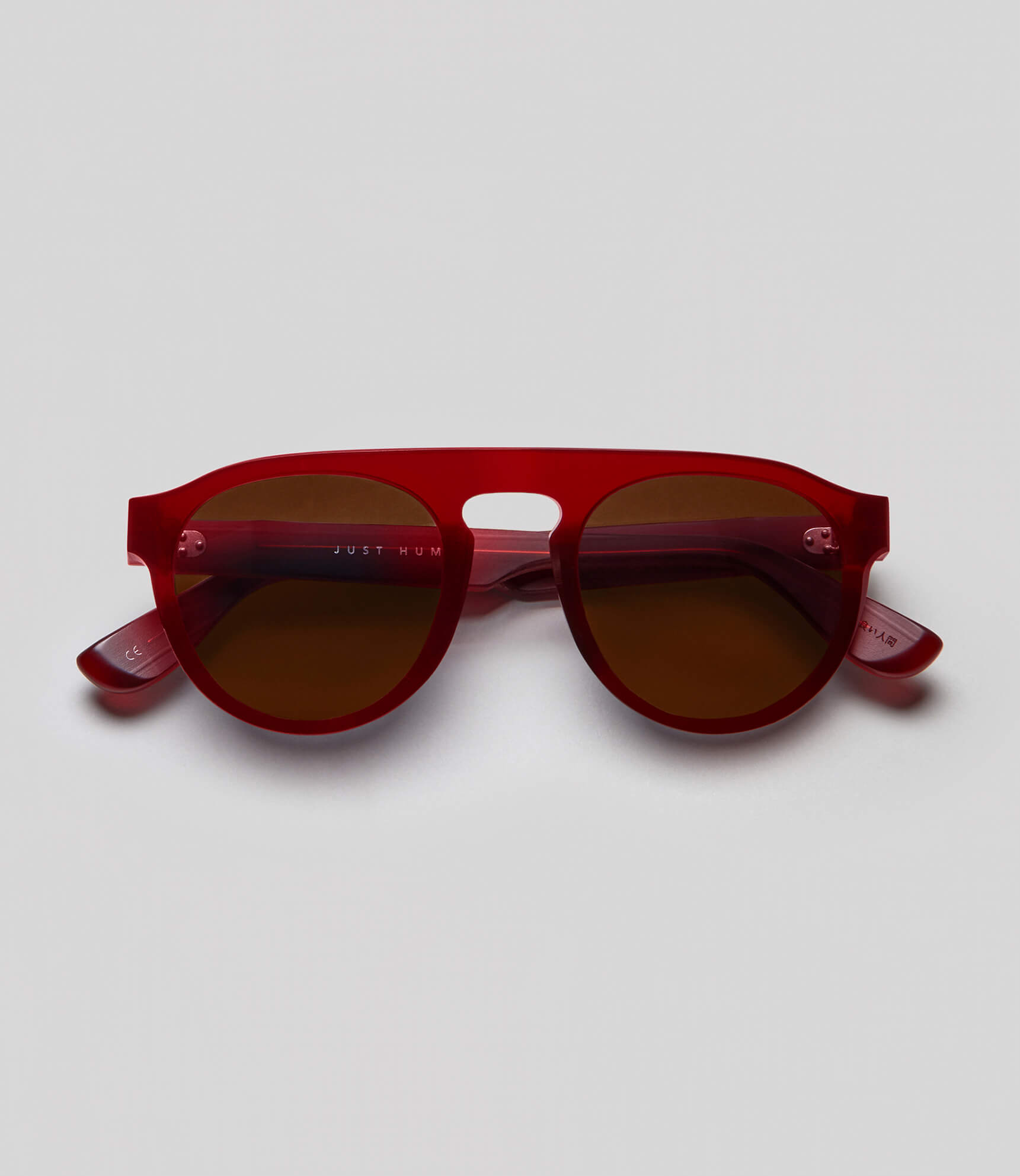 Red aviator sunglasses eco friendly sustainable fashion made in Japan unisex sunglasses for men sunglasses for women and blue light filter