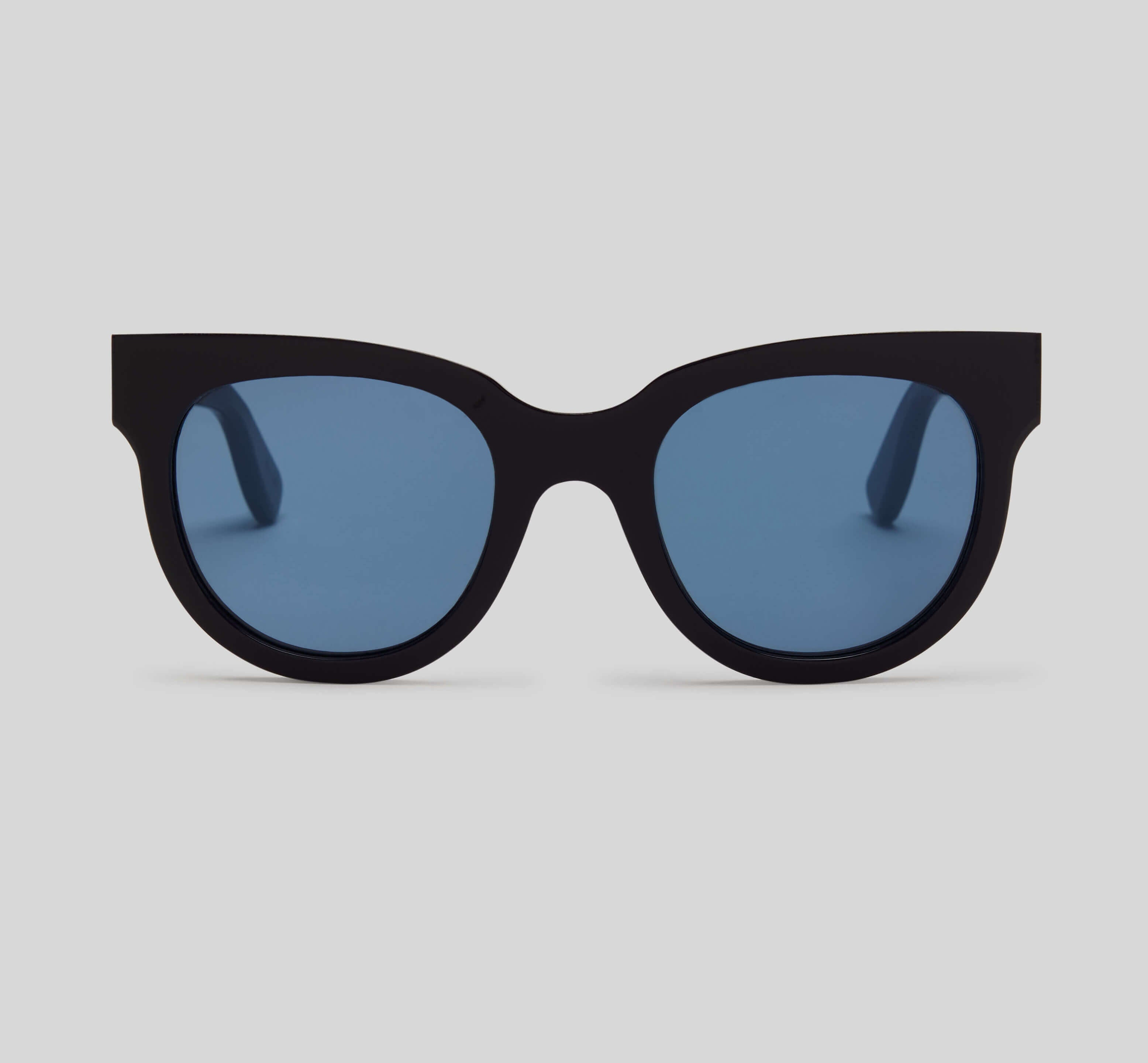 Navy cat eye sunglasses eco friendly sustainable fashion made in Japan unisex sunglasses for men sunglasses for women and blue light filter