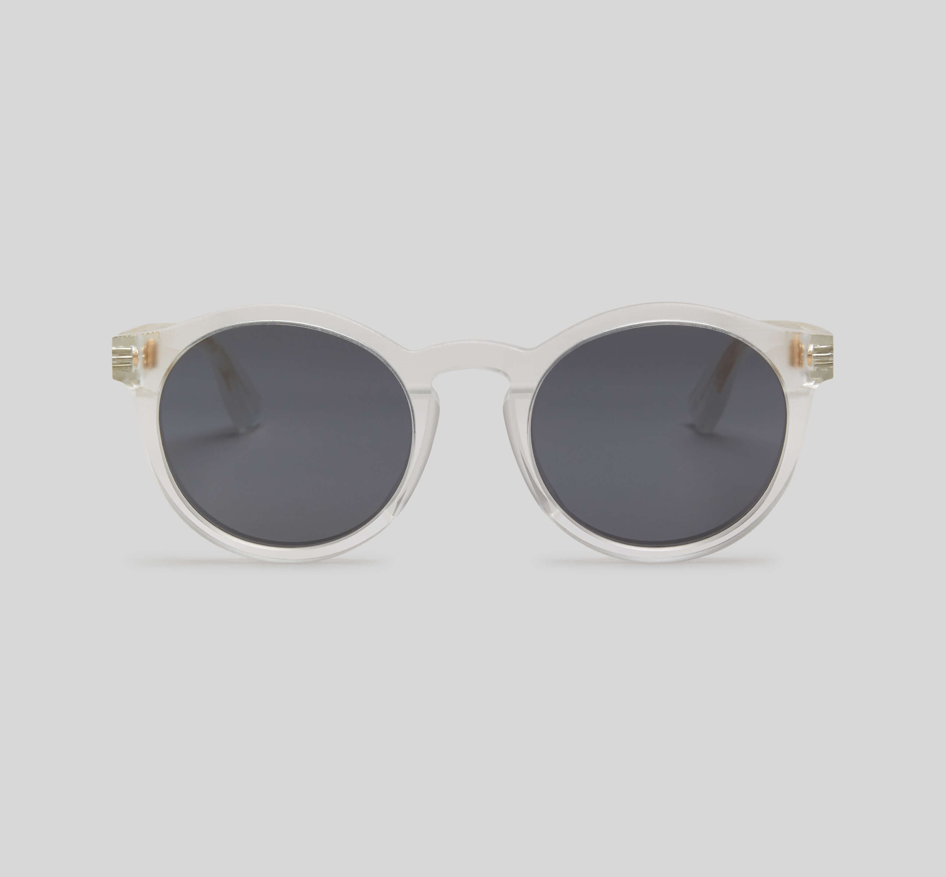 Round clear sunglasses eco friendly sustainable fashion made in Japan unisex sunglasses for men sunglasses for women and blue light filter