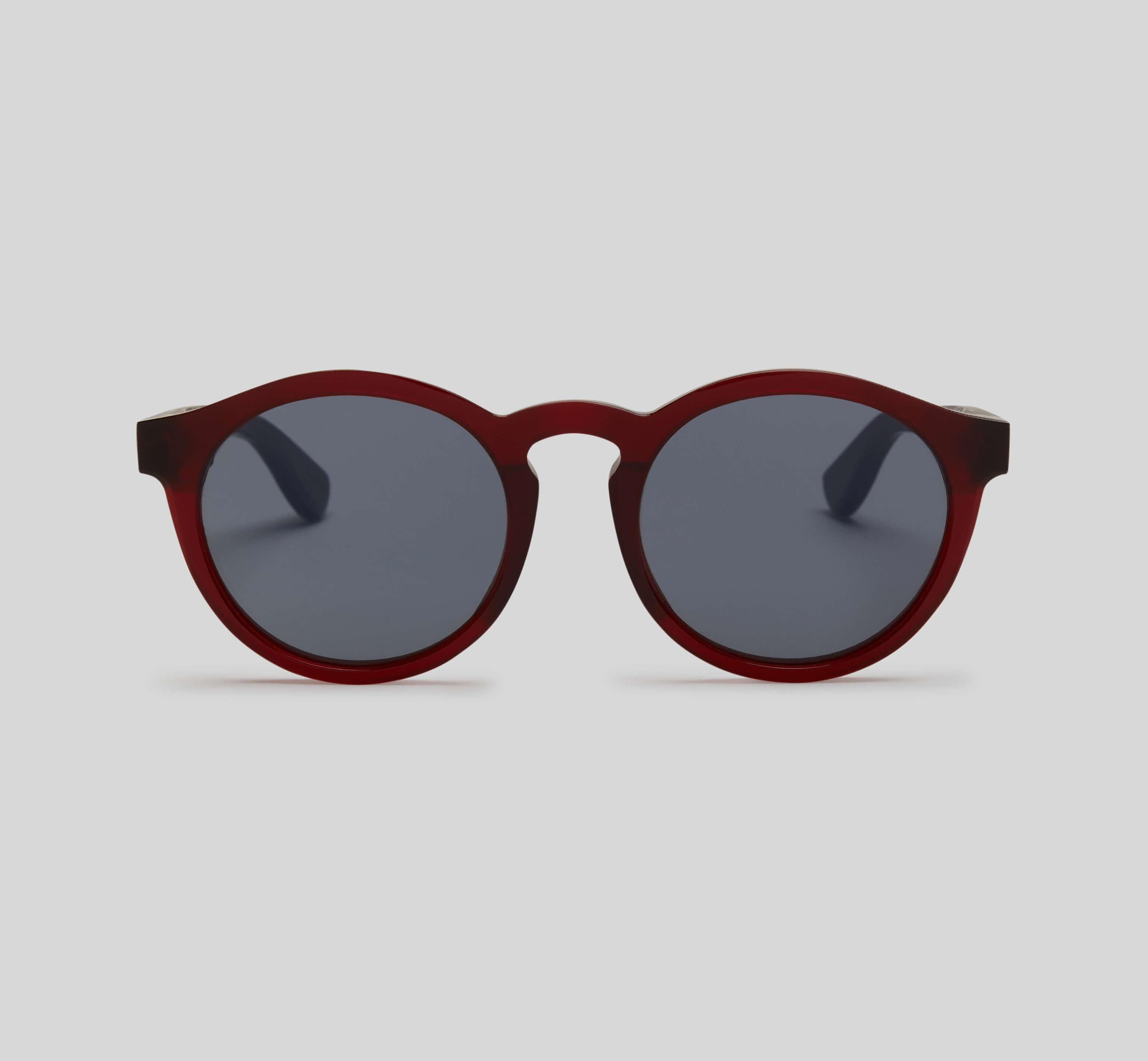 Round red sunglasses eco friendly sustainable fashion made in Japan unisex sunglasses for men sunglasses for women and blue light filter