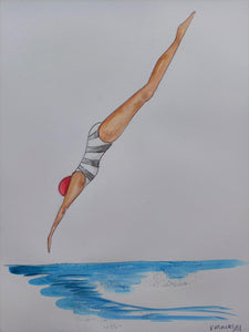 Stripey Dive | Original Painting