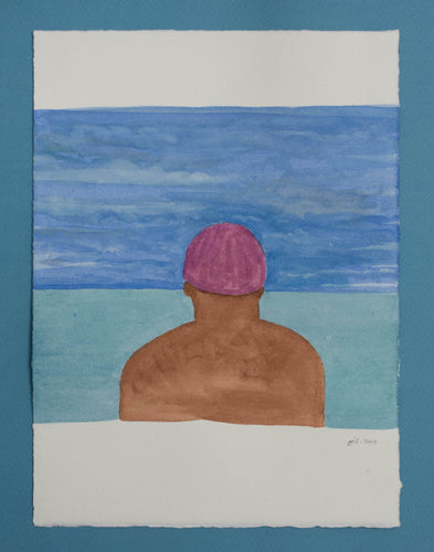 'Swimmer Series' 2 (Purple Cap)