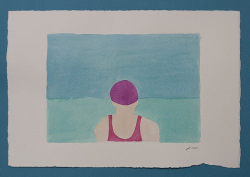 'Swimmer Series' 6 (Purple Cap)