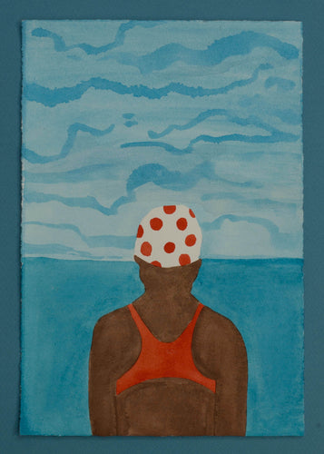 'Swimmer Series' 8 (Red Dotty Cap)