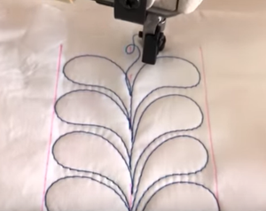 Feathers in Free-motion Quilting!