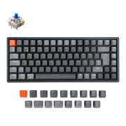 Keychron K2 Wireless Mechanical Keyboard German ISO DE QWERTZ Gateron blue switch RGB light white backlit with aluminum frame