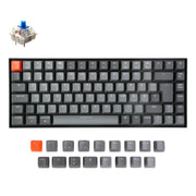 Keychron K2 Wireless Mechanical Keyboard German ISO DE QWERTZ Gateron blue switch RGB light white backlit