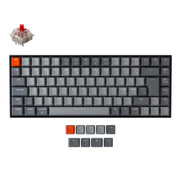 Keychron K2 Wireless Mechanical Keyboard (Nordic ISO Layout) - Keychron | Wireless Mechanical Keyboards for Mac Windows White Backlight RGB Backlit Gateron Mechanical Red Switch