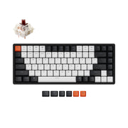 Keychron K2 hot-swappable wireless mechanical keyboard for Mac Windows iOS Gateron switch brown with type-C RGB white backlight aluminum frame