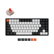 Keychron K2 hot-swappable wireless mechanical keyboard for Mac Windows iOS Gateron switch red with type-C RGB white backlight aluminum frame
