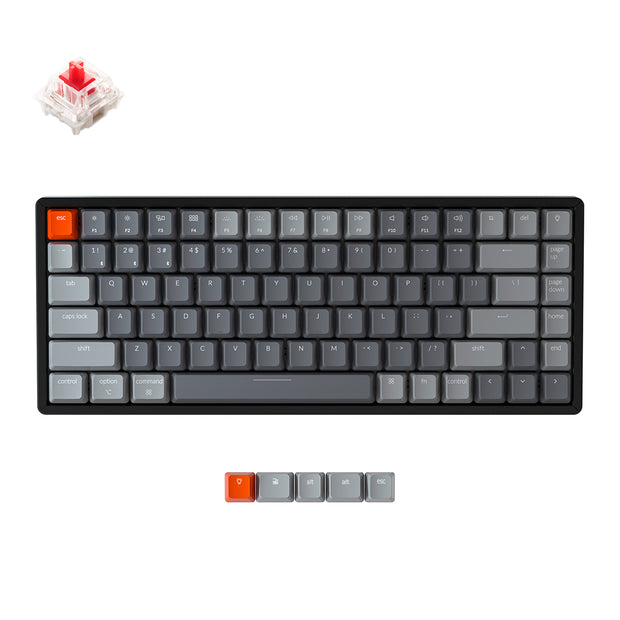 Keychron K2 wireless mechanical keyboard for Mac Windows iOS Gateron switch red with type-C RGB white backlight aluminum frame