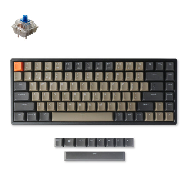 Keychron K2 version 2 wireless mechanical keyboard mac windows iOS android with PBT keycaps Gateron switch blue