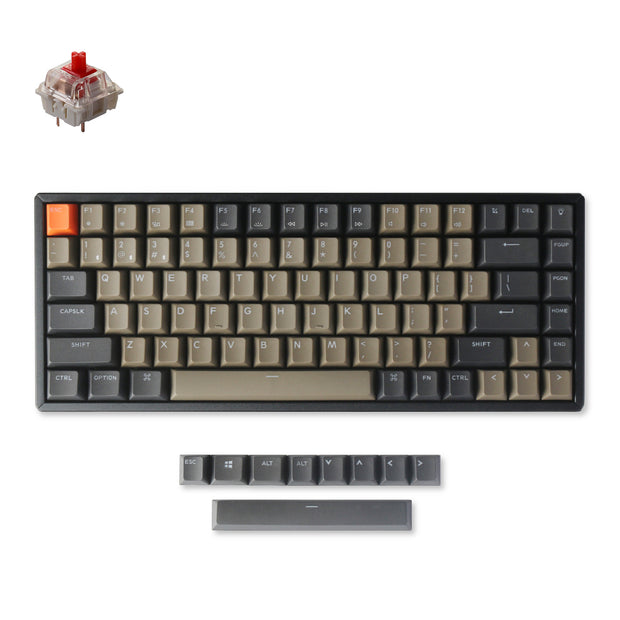 Keychron K2 version 2 wireless mechanical keyboard mac windows iOS android with PBT keycaps Gateron switch red