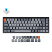 Keychron K6 65 percent compact wireless mechanical keyboard for Mac Windows iPad tablet German ISO-DE layout Gateron mechanical blue switch with RGB backlight aluminum frame hot-swappable