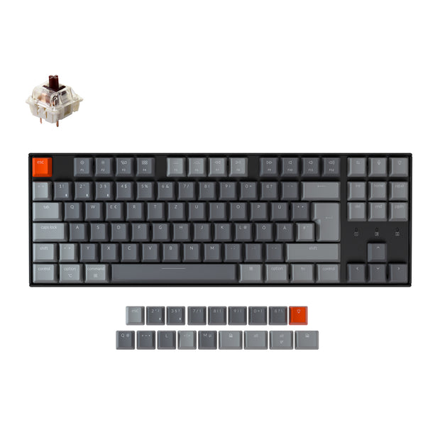 Keychron K8 Wireless Mechanical Keyboard (German ISO-DE Layout)