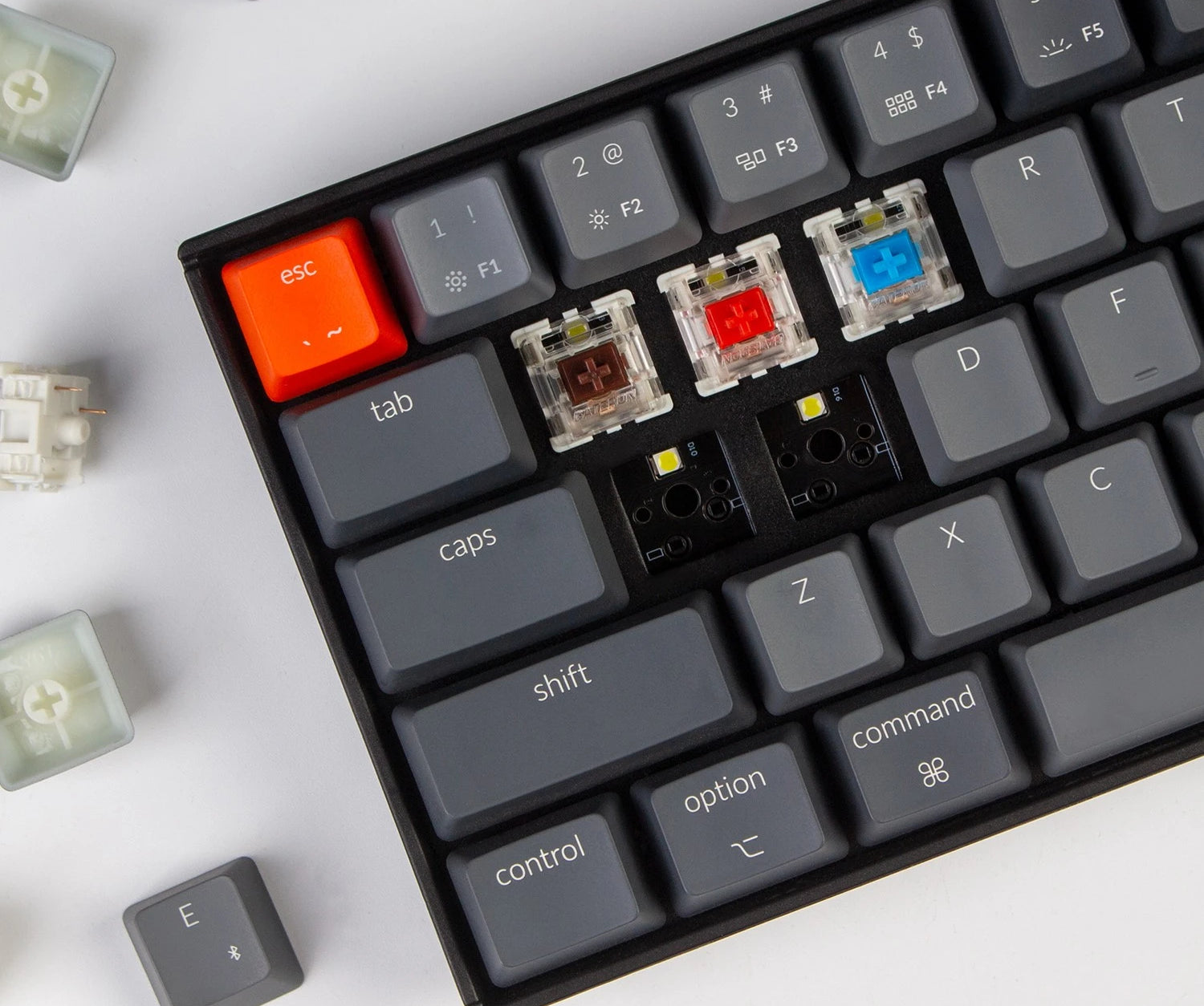 Keychron K14 70% compact wireless mechanical keyboard for Mac and Windows with hot-swappable and mx-style Gateron or Keychron mechanical switches