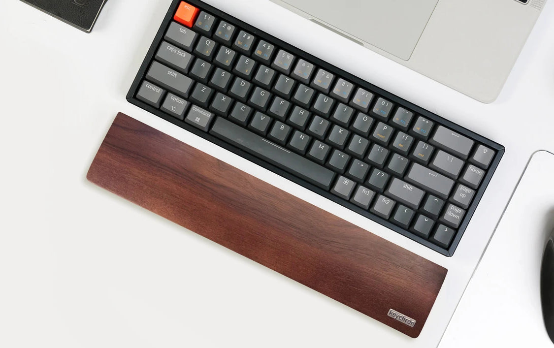 keychron k6 american walnut wood palm rest
