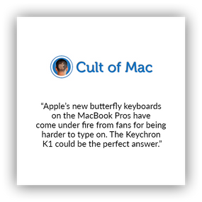 Keychron K1 ultra-slim wireless mechanical keyboard for Mac and windows covered by Cult of Mac