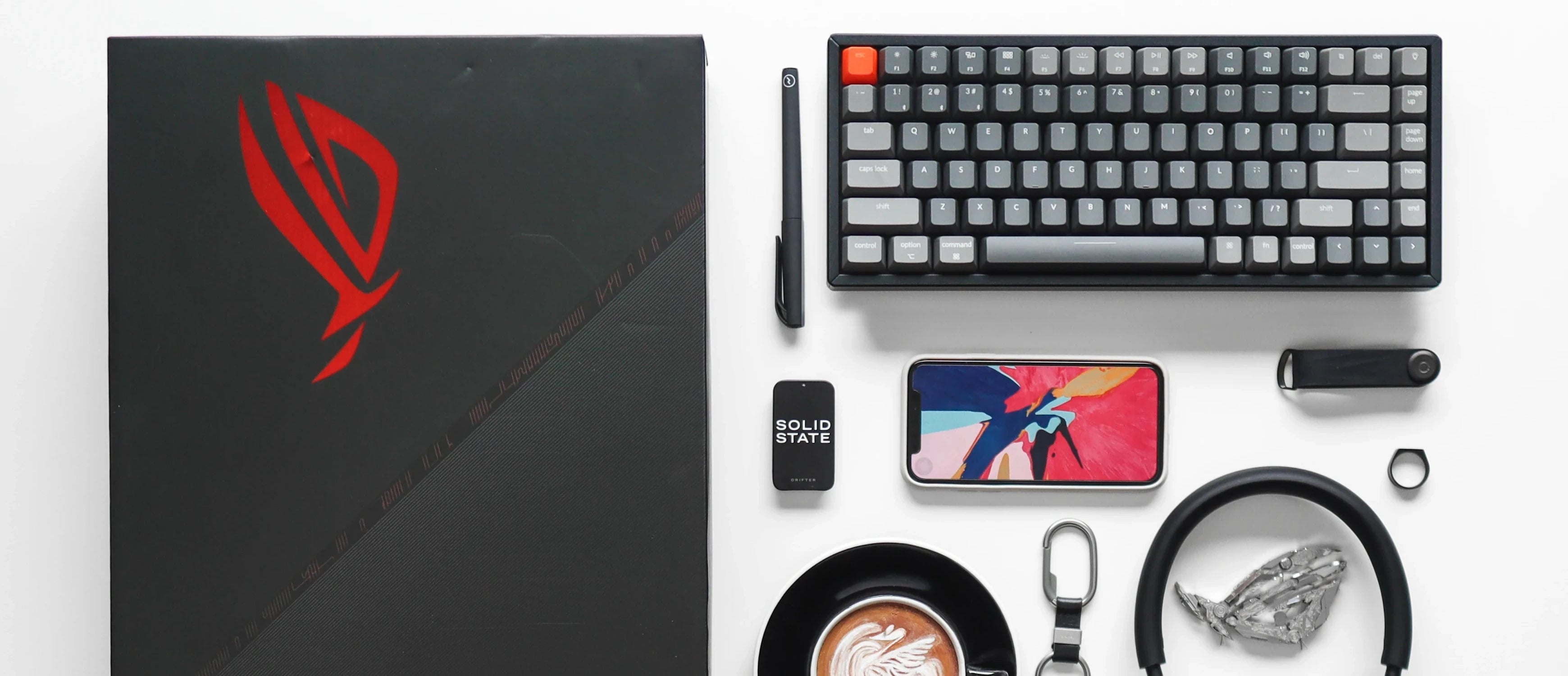 Keychron K2, the best affordable wireless mechanical keyboard with mixed color keycaps agiputraaspian iphone headphone coffee