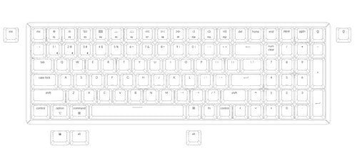 Keychron K4 96 percent wireless mechanical keyboard for Mac Windows Android - Gateron mechanical switch and LK optical switch