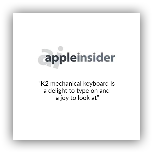 Keychron K2 wireless mechanical keyboard for Mac and windows covered by apple insider, K2 mechanical keyboard is delight to type on and a joy to look at.