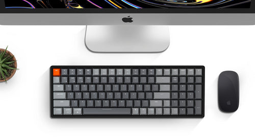 Keychron K4 96 percent wireless mechanical keyboard for Mac Windows - red blue brown Gateron mechanical switch and LK optical switch