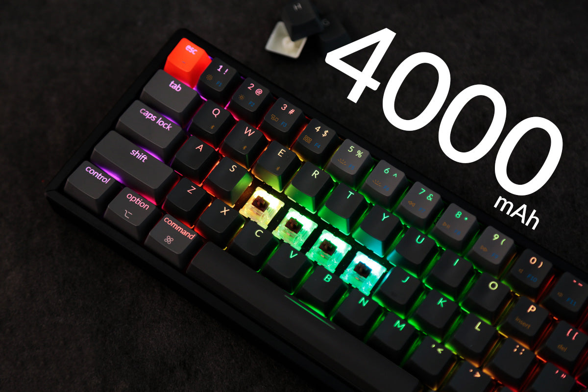Keychron K6 65 percent compact wireless mechanical keyboard big battery 4000mAh