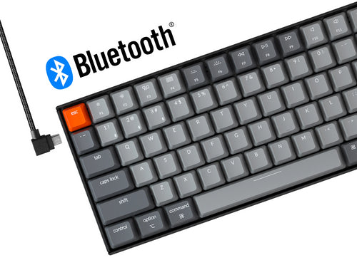 Keychron K4 96 percent wireless mechanical keyboard for Mac Windows - Gateron mechanical switch and LK optical switch cordless and type-c cable mode