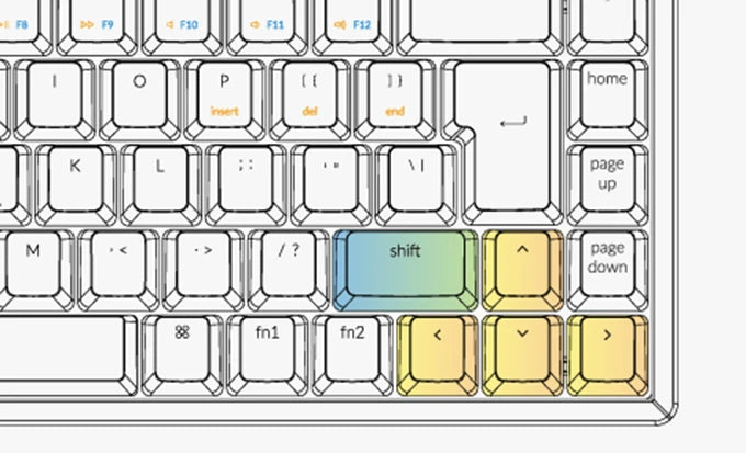 Keychron K6 65 percent compact wireless mechanical keyboard Nordic  layout for Mac and Windows with ergonomic key design