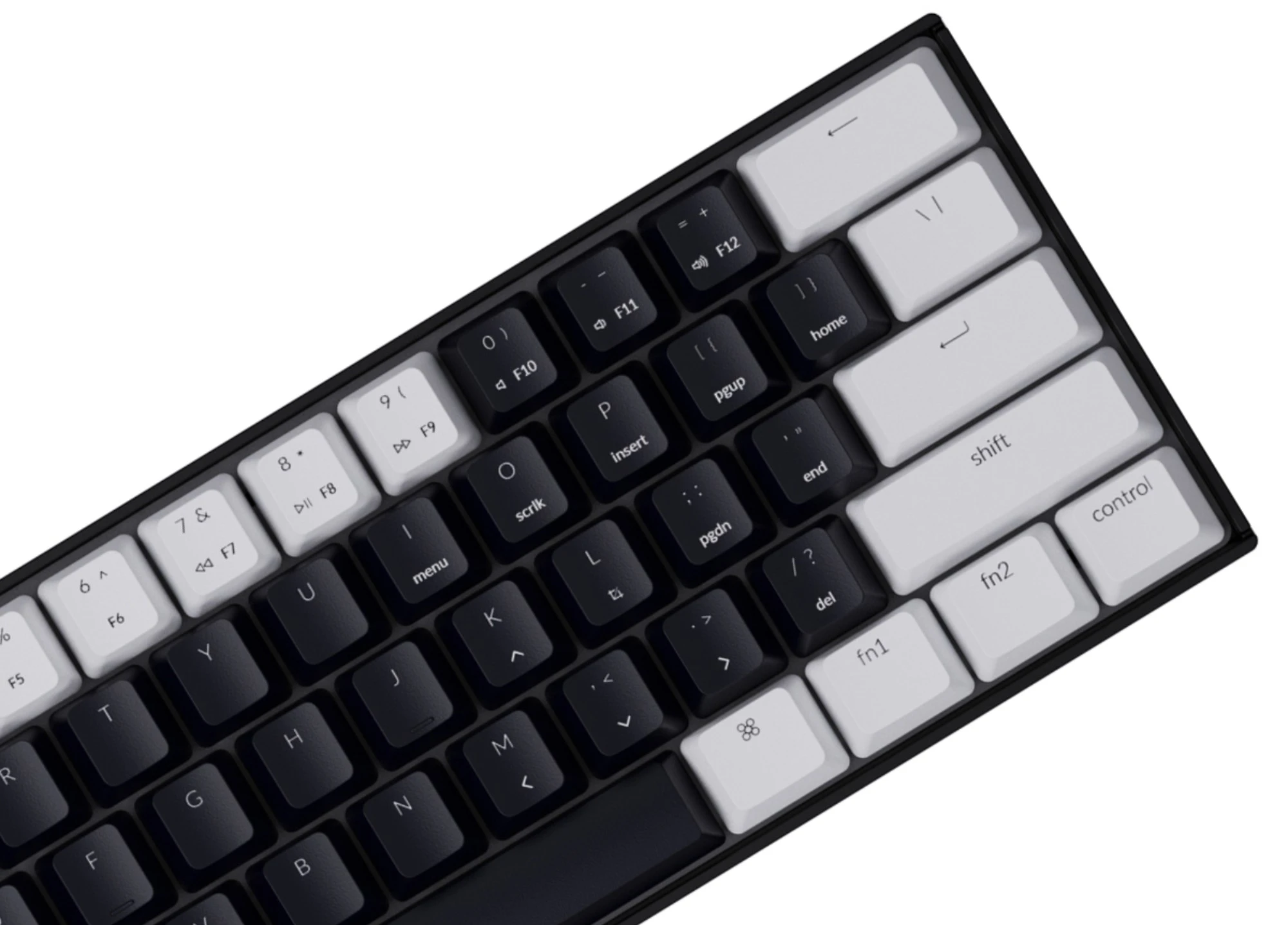 Keychron K12 ABS Keycap Set White Black