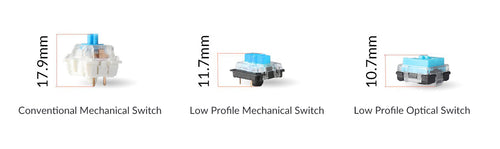 Low profile mechanical switches