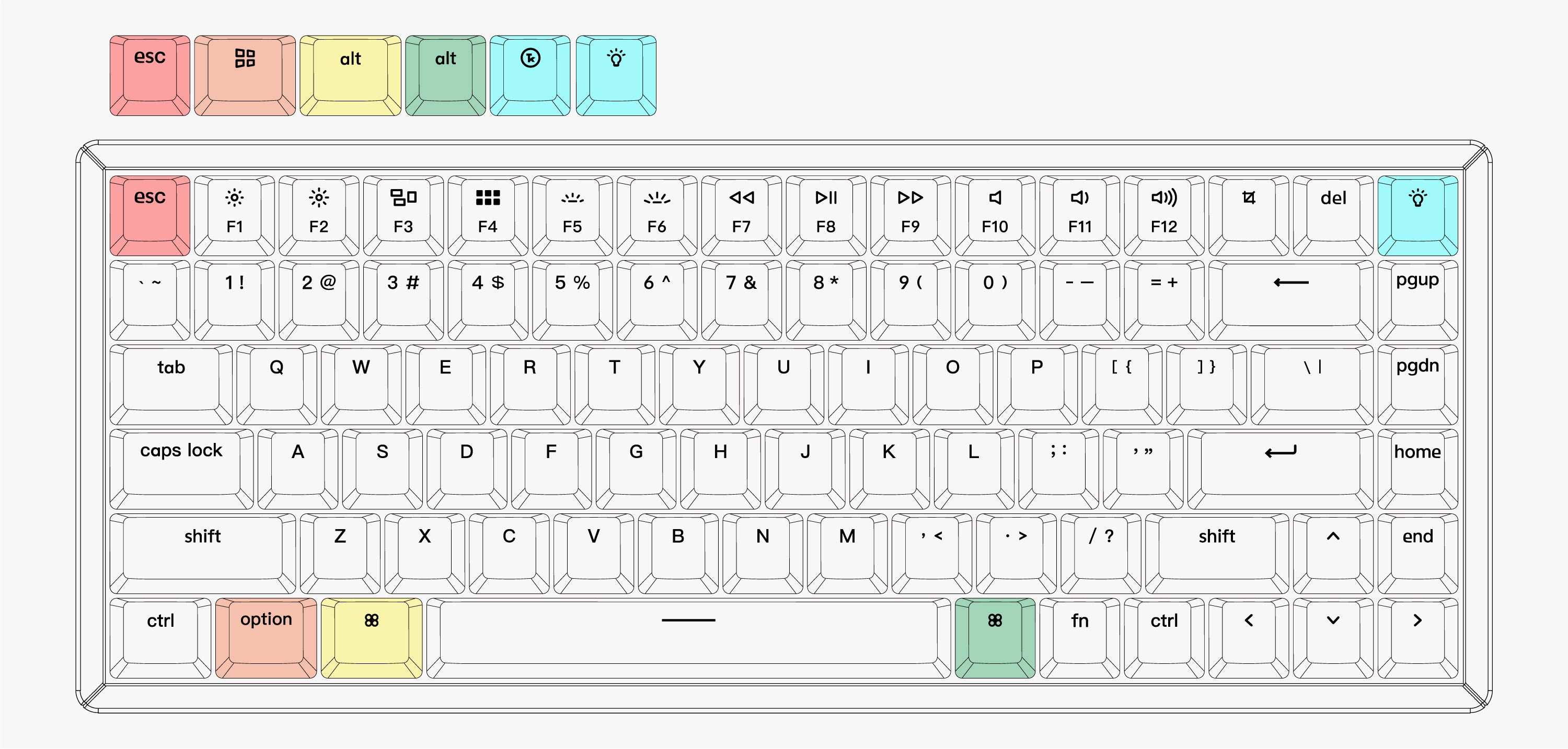 Keychron K2 wireless mechanical keyboard US ANSI layout for Mac and Windows