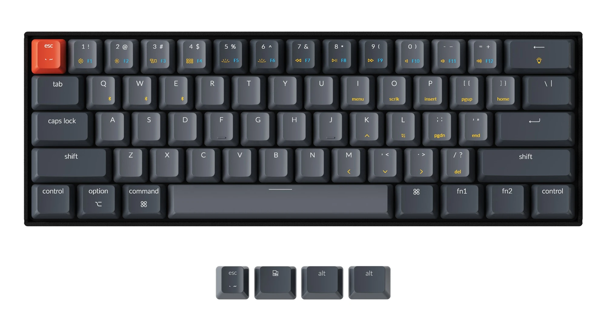 Keychron K12 ABS Keycap Set Grey