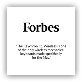 Keychron K1 ultra-slim wireless mechanical keyboard for Mac and windows covered by Forbes