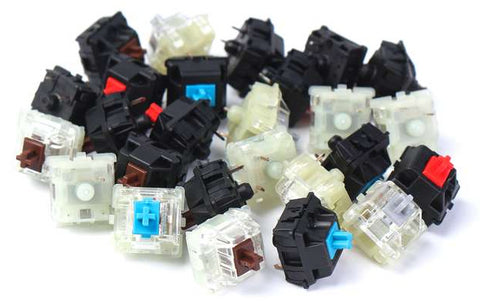 cherrry mx switches red blue brown