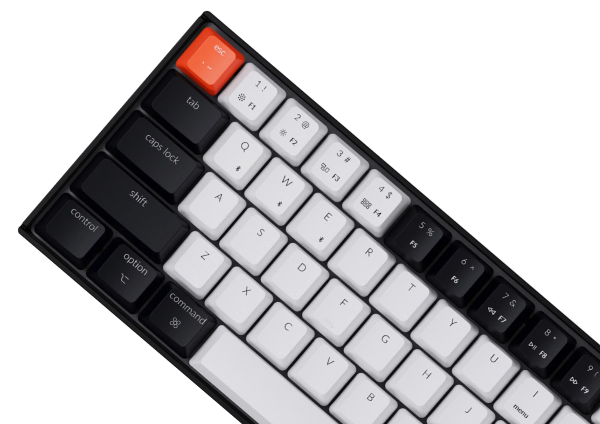 Keychron K12 ABS Keycap Set Black White
