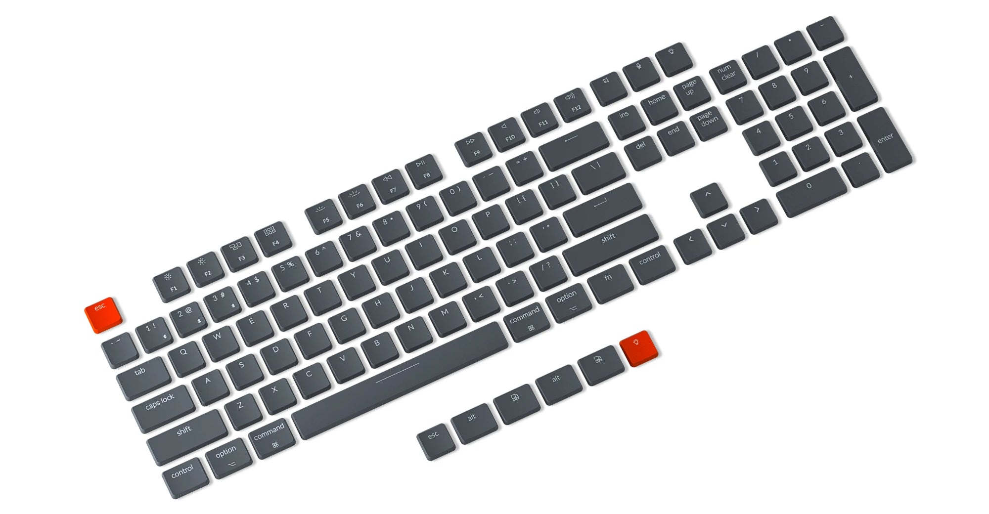 Keychron K8 tenkeyless wireless mechanical keyboard for Mac Windows iOS with Hot-swappable Gateron and Keychron Optical switch red blue brown keycap set
