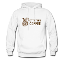 Load image into Gallery viewer, Kitty Town Coffee Hoodie - white