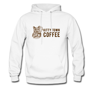 Kitty Town Coffee Hoodie - white