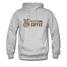 Load image into Gallery viewer, Kitty Town Coffee Hoodie - heather gray