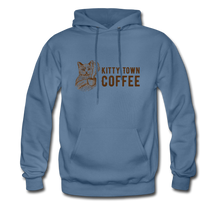 Load image into Gallery viewer, Kitty Town Coffee Hoodie - denim blue